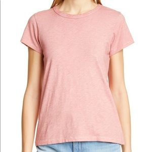 Rag & Bone Pima Cotton Pink Short Sleeved Tee